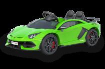 Lamborghini 12V con Licenza Nero 2 posti per bambini